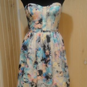 Parker Lily sz S Strapless Bustier Mini Dress
